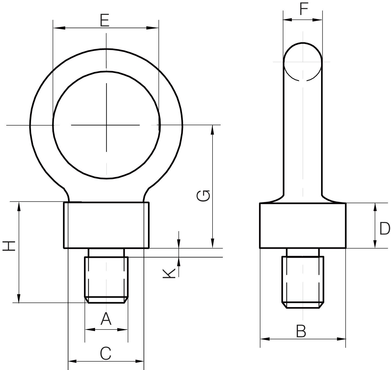 Dynamo Eyeboltsto BS 4278Part 3 1984 - Tested & Certified