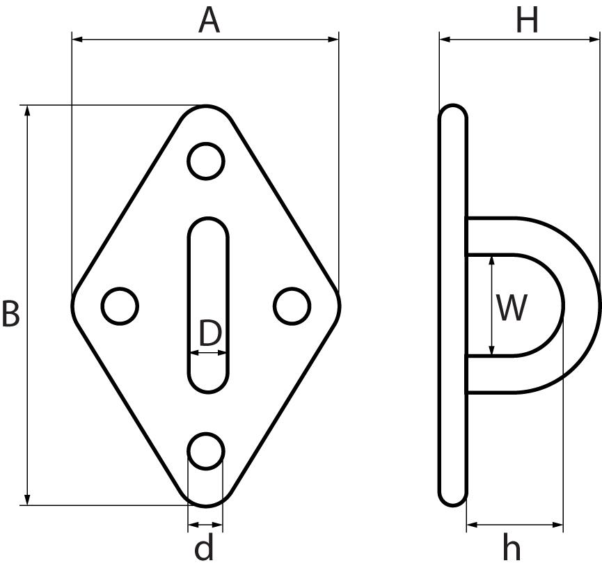 Four Hole Diamond Eye Plates