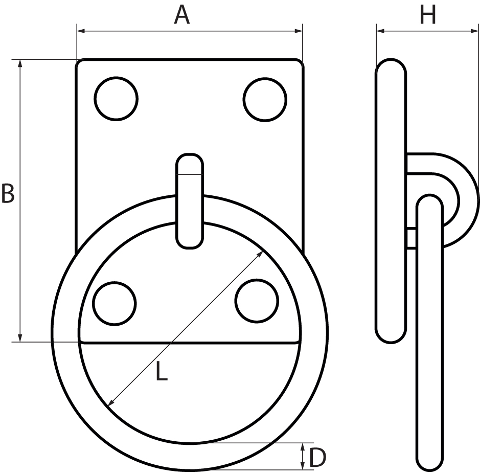 Four Hole Eye PlatesFitted with Ring
