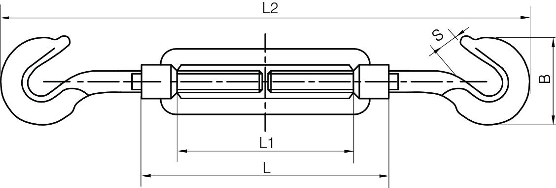 Open Body Turnbuckles Hook & Hook