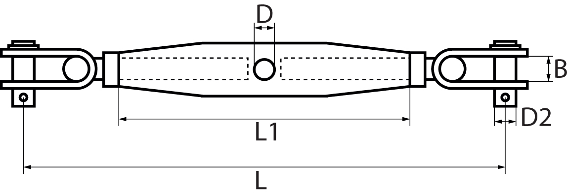 Rigging Screws with Toggle each end