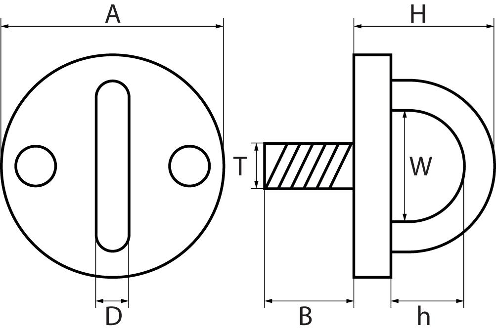 Round Eye Plates with Screwed Thread