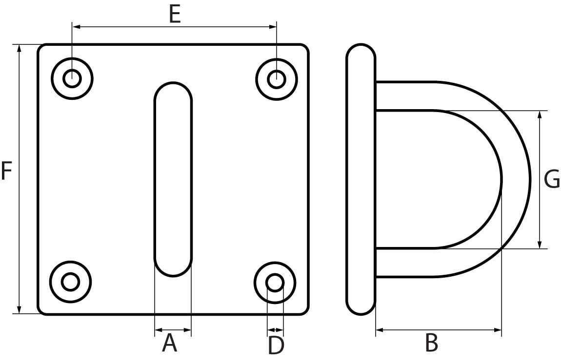 Square Eye Plate