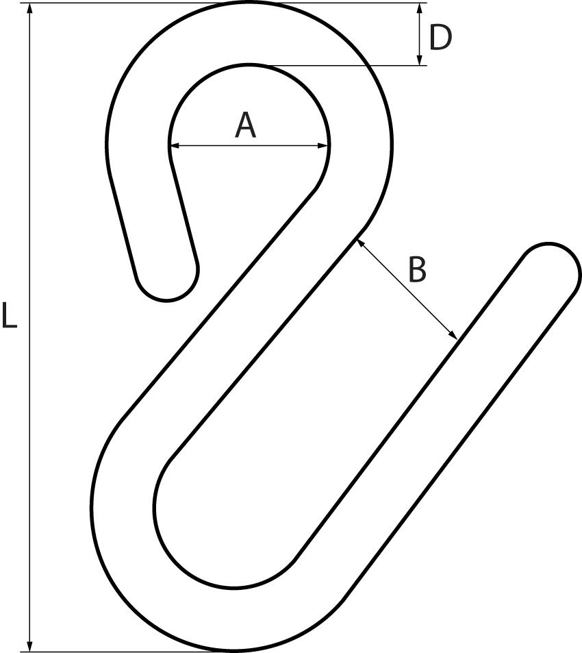 Stainless Steel Long Arm 'S' Hooks