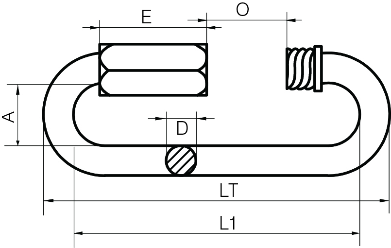 Stainless Steel Long Series Quick Links