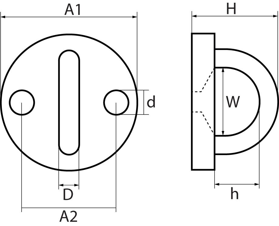 Two Hole Round Eye Plates