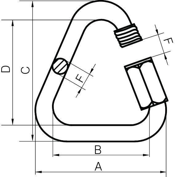 Delta Type Quick LinksZinc Plated